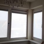 Raamdecoratie Day & Night Zonder schroeven of boren op kunststof ramen geplaatst   Dagpositie (vitrage effect)