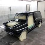 Tadaa! en nu is de auto zwart