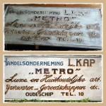 Oud reclamebord weer leesbaar gemaakt met behoud van oude look